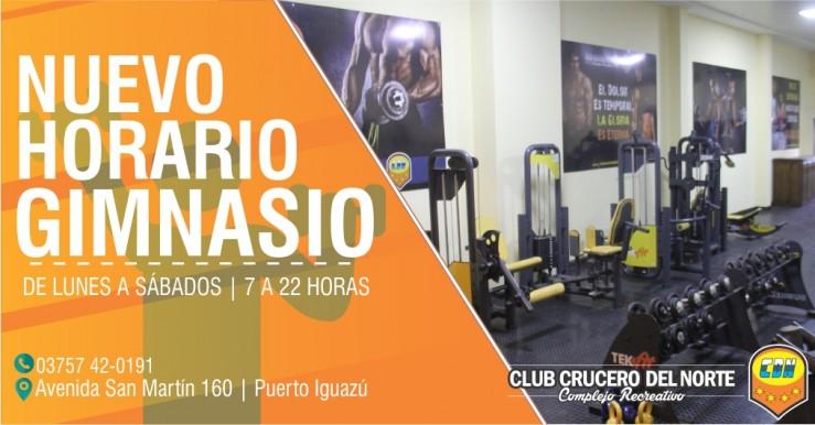 Nuevo horario para el gimnasio del complejo en iguaz for Horario gimnasio